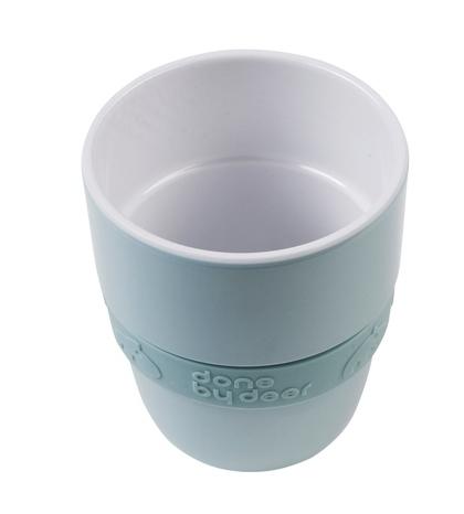 pohárik Elphee yummy so silikónovým prúžkom modrý Done By Deer