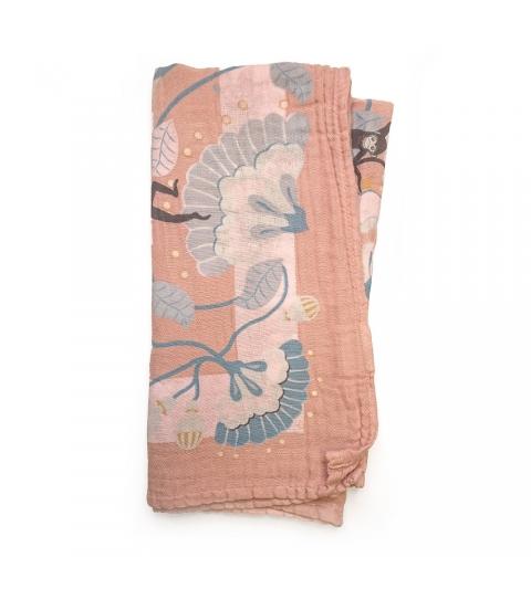 Elodie Details Deka z bambusového mušelínu Faded Rose Bells
