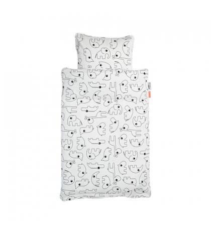 Done by Deer Obliečky Contour  bodka baby biele nové
