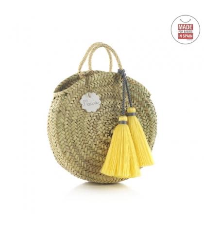 Cambrass Plážová taška 10X30X35 CM žltý strapec malá