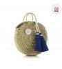 Cambrass Plážová taška 10X30X35 CM modrý strapec malá