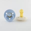 BIBS cumlíky z prírodného kaučukubaby-blue-ivory – veľkosť 2