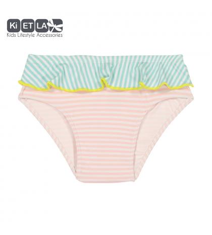 KiETLA plavky s UV ochranou-ruzovy-pasik