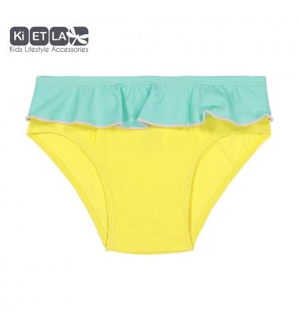 KiETLA plavky s UV ochranou-žlto-zelené