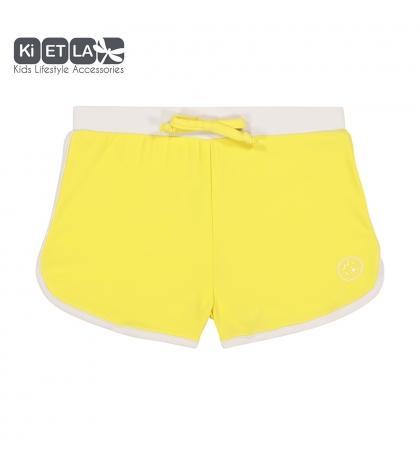 KiETLA plavky s UV ochranou - šortky žlté