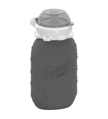 Squeasy Gear silikónová kapsička 180 ml-sivá