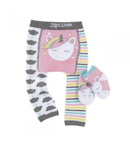 Zoocchini Set legínky a ponožky Jednorožec Allie 6 - 12 m