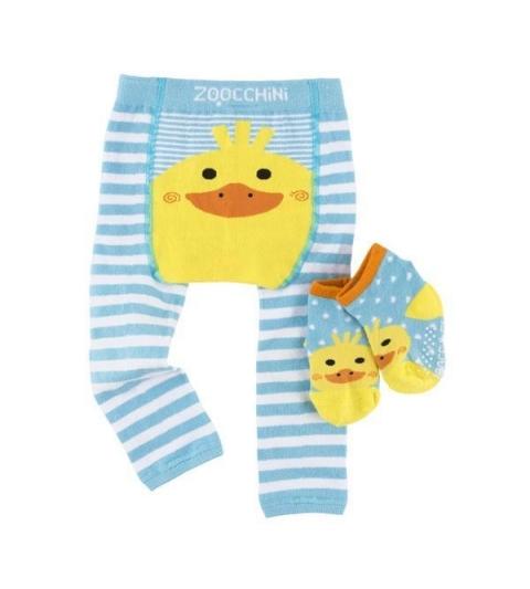 Zoocchini Set legínky a ponožky Kačka 6 - 12 m