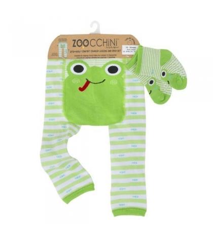 Zoocchini Set legínky a ponožky Žabka 12 - 18 m