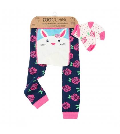 Zoocchini Set legínky a ponožky Zajačik 6 - 12 m