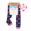 Zoocchini Set legínky a ponožky Zajačik 12 - 18 m