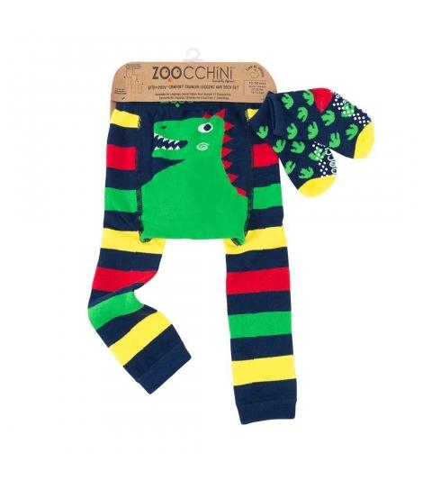 Zoocchini Set legínky a ponožky Dinosaurus 6 - 12 m