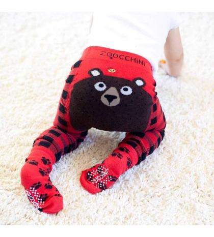 Zoocchini Set legínky a ponožky Medveď 6 - 12 m