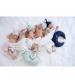 Novorodenecká čiapka 1-3 m biela so šedým srdcom 0-1 mes