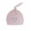 Effiky Novorodenecká čiapka 1-3 m ružová so srdcom