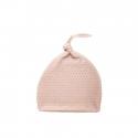 Effiki Novorodenecká čiapka 0-1 m ružová so šedými bodkami