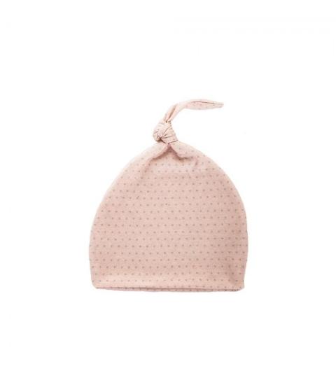 Novorodenecká čiapka 1-3 m ružová so šedými bodkami 0-1 mes