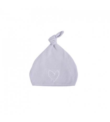 Novorodenecká čiapka 0-1 m šedá s bielym srdcom 0-1 mes