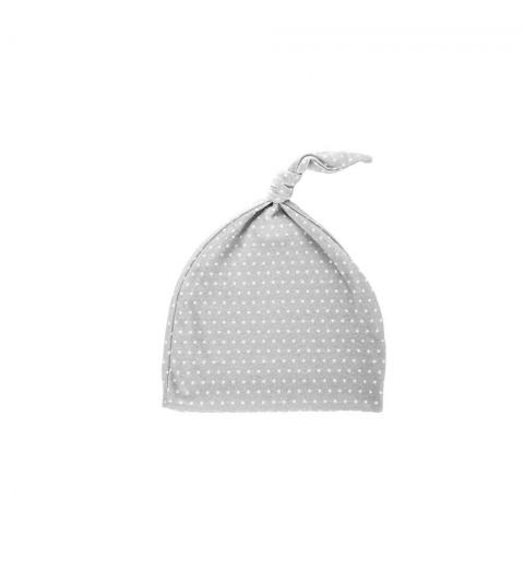 Novorodenecká čiapka 0-1 m šedá s bielymi bodkami 0-1 mes