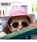 KiETLA klobúčik 12-24 m s UV ochranou-panama-pink