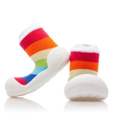 Attipas Detské topánočky XXXL- Rinbow White