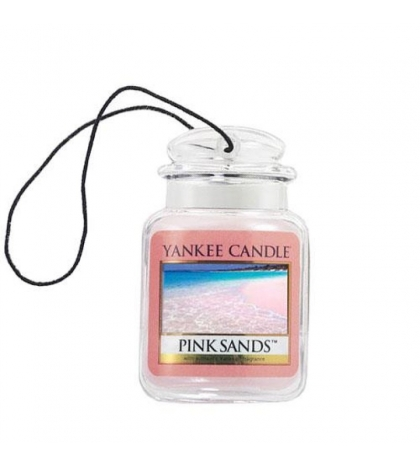 YANKEE CANDLE  PINK SANDS CAR JAR ULTIMATE