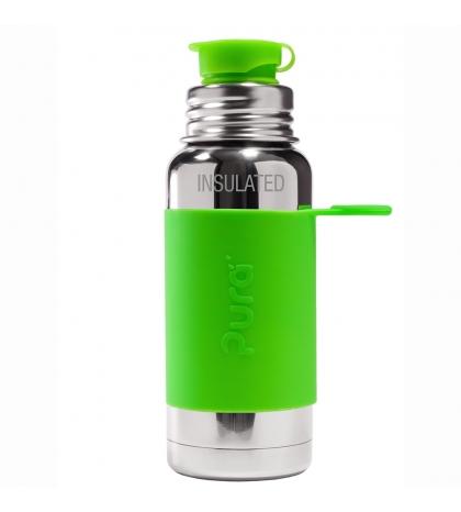 Pura® TERMO fľaša so športovým uzáverom 475ml zelená