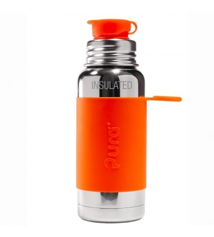Pura® TERMO fľaša so športovým uzáverom 475ml oranžová