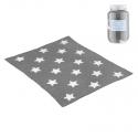 CAMBRASS Bavlnená detská deka 80 x 100 cm STAR sivá