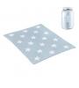 CAMBRASS Bavlnená detská deka 80 x 100 cm STAR BLUE