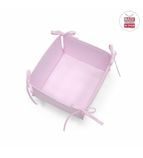 Cambrass Polstrovaný košík ružový