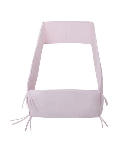 CAMBRASS mantinel do postieľky 360x30 cm liso ružový